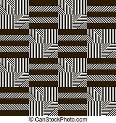 Stylish modern black and white patchwork pattern...