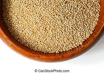 white quinoa seeds - Healthy white quinoa seeds close up...