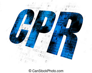 Medicine concept: CPR on Digital background - Medicine...