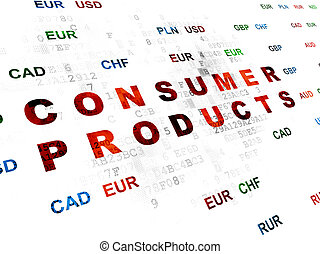 Business concept: Consumer Products on Digital background