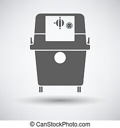Vacum cleaner icon - Vacuum cleaner icon on gray background...