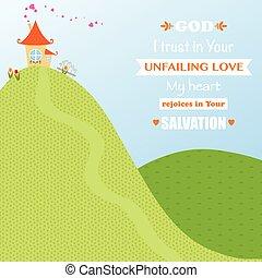 God Jesus Christ Background Design Cartoon Worship Love Joy...