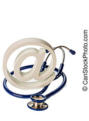 email sign and stethoscope - an email sign and a stethoscope...