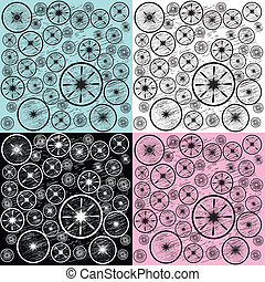 Background with circles in different colors