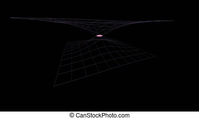 Intersection of two 3 dimensional parabolic graph on a black...