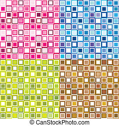 Four pattern in squares