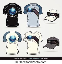 t-shirt - Corporate Identity Business Set. T-shirt and cap...