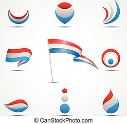 flags and icons of Netherland - Vector illustration of flags...