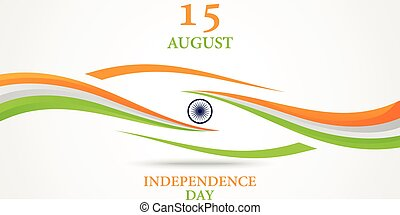 Indian Independence Day background - Vector illustration of...
