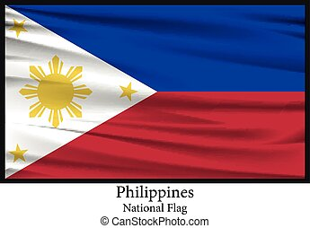 national flag of Philippines - Vector illustration national...