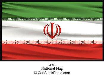 National flag of Iran - Vector illustration of National flag...
