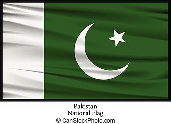 Pakistan national flag - Vector illustration of Pakistan...