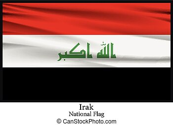 National Flag of Iraq - Vector illustration of National Flag...