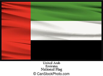 National Flag of United Arab Emirates - Vector illustration...