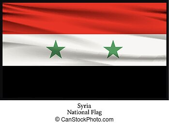 Syria national flag - Vector illustration of Syria national...