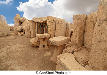 Doors and Windows of Hagar Qim and Mnajdra Temples - Door...