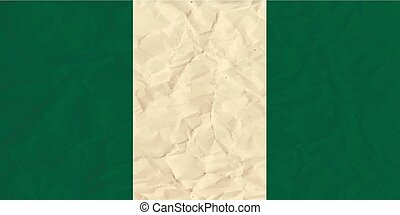 Nigeria paper flag - Vector image of the Nigeria paper flag...