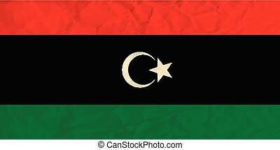 Libya paper flag - Vector image of the Libya paper flag