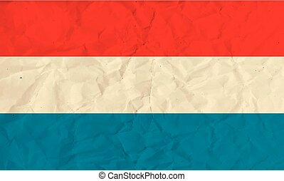 Luxembourg paper flag - Vector image of the Luxembourg paper...