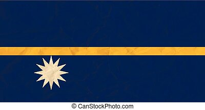 Nauru paper flag - Vector image of the Nauru paper flag