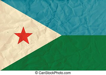 Djibouti paper flag - Vector image of the Djibouti paper...