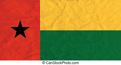 Guinea-Bissau paper flag - Vector image of the Guinea-Bissau...