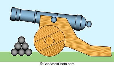 Cannon - Illustration of the old cannon icon