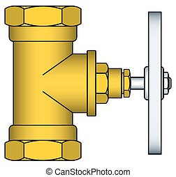 Faucet - Illustration of the brass faucet icon