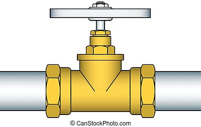 Valving - Illustration of the valving faucet pipeline