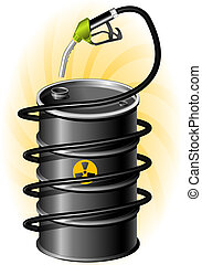Black Oil Drum and Fuel Pump with hose