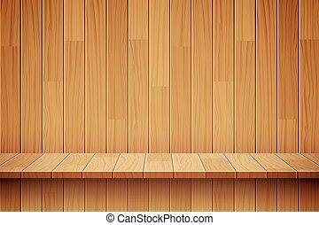 vector empty wooden shelf background