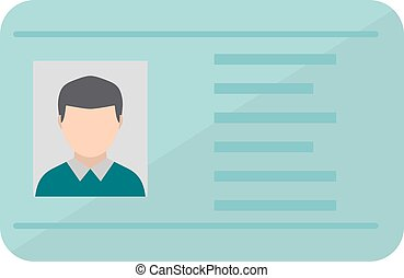 Driving national standard license flat vector illustration....