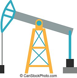 Oil rig industry business concept of derrick production fuel...