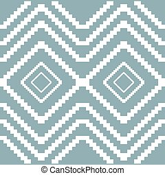 Seamless knitted pattern in white and muted blue colors -...