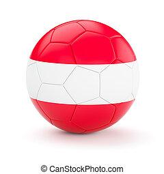 Soccer football ball with Austria flag