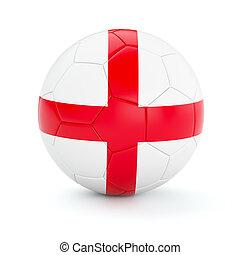 Soccer football ball with England flag