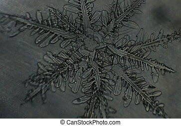 Time lapse of snowflake
