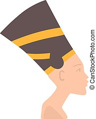 Pharaoh head vector illustration isolated on white - Pharaoh...