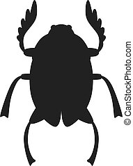 Egypt scarab beetle vector illustration - Egypt scarab...