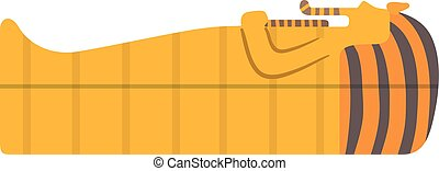 Traditional symbols of Egypt Sphinx sarcophagus vector -...