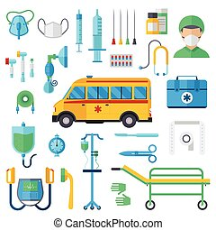 Resuscitation symbols vector illustration. - Resuscitation...