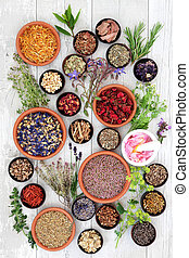 Natural Herbal Medicine - Natural flower and herb selection...