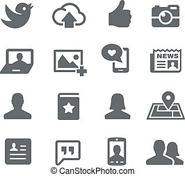 Social Web Icons - Vector icons for your digital or print...