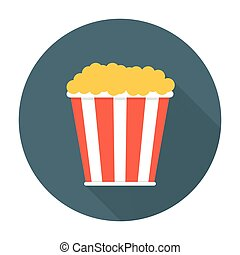 Pop corn flat icon Editable EPS vector format