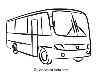 Sketch of passenger bus.  - Sketch of the big passenger bus.