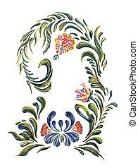 Ukrainian folk art. - Ukrainian national motives. Vector...