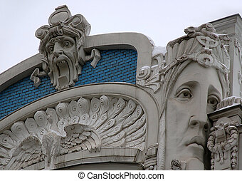 Detali of Art Nouveau on the Building - Detail of Art...