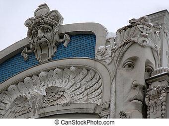 Detali of Art Nouveau on the Building - Detail of Art...