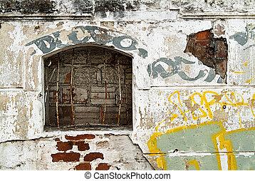 facade of house demolition