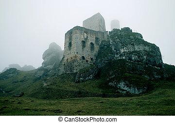 Ruins of castle on rocks